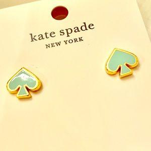 Kate Spade mint & gold studs